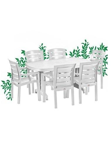 Holiday Holiday Nova 90X150 6Lı Oval Bahçe Mobilyası Ve Oturma Grubu Beyaz Renkli